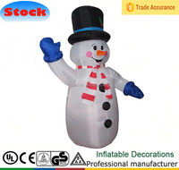 160cm Airblown Inflatable Snowman with Black Top Hat Outdoor Yard Decor
