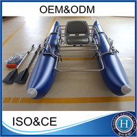 2015 popular one person fishing boat and aluminum pontoon boat for sale