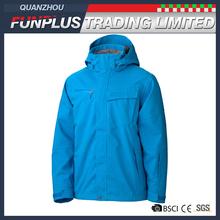 mens waterproof windproof soft shell outdoor coat bright blue ski jacket