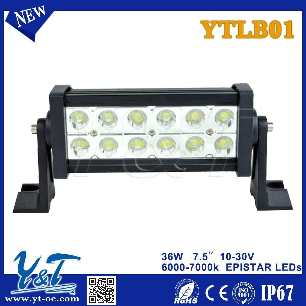 36w 7.5 inç düz led çalışma ışığı bar nokta sel combo ışın offroad 4wd atv UTV kamyon römork 4x4 araba sürüş ışık led