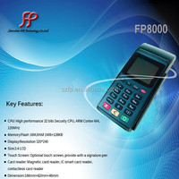 FP8000 Debit card credit card skimmer handheld pos terminal with integrated printer