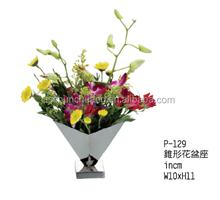 Taper-Shape Stainless Steel Flower Vase /Flower Serving Stand / Unique Flowerpot