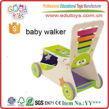EN71 Standard Big Activity Baby Walker Toy, High Quality Wooden Baby Walker
