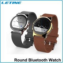Letine New Design Bluetooth Vibrating Watch MTK2502 Round Smart Watch
