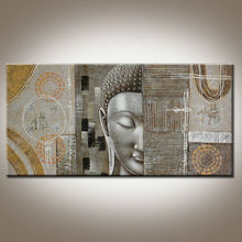 Buddha Relief Oil Painting
