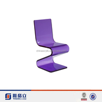 High Quality Z-shaped acrylic chair,Acrylic Living Room Chair,Perspex Furniture
