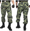 Fashion mens tiger stripes camo slim fit military tactical camouflage hunting trousers