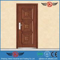 JK-A9027 JieKai latest design steel security door / door metal / flat design steel wooden armored door