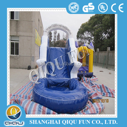 2015 Inflatable water slide for games