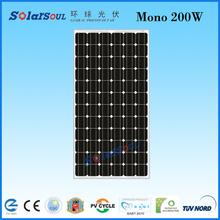 monocrystalline 200 watt photovoltaic solar panel wholesale
