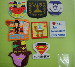soft pvc fridge magnet, Israel series promotional magnetic fridge stickers
