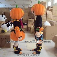 advertising pumpkin mascot costume