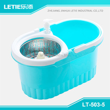 2015 new cleanning spin mop with stainless steel and plastic basket