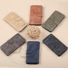 New Style Cell Phone Case For Samsung Galaxy S6 Retro Real Leather Flip Cover Case