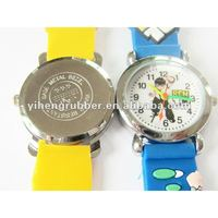 2012 Promotional Blue Color Children Silicone Watch cartoon pocket watch