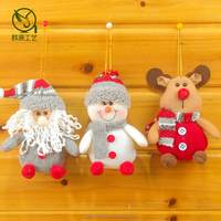 high quality fabric santa snowman deer christmas tree decorations