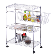 3 tier kitchen utility rack ,metal rack ,chrome metal storage