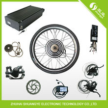 26' 500w brushless geared hub motor with electric bike 48v controller
