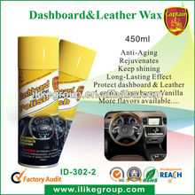 450ml Spray Dashboard & Leather Wax(SGS Audited & BV Factory Audit; RoHS & TUV Certificates; REACH Registered)
