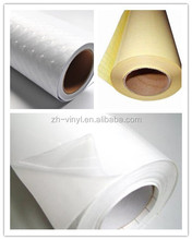 Plastic cold lamination film with adhesive