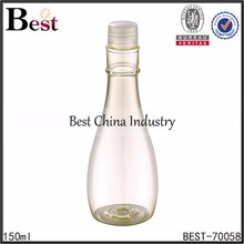 hot sale 150ml new style shaped plastic bottle, vase shape plastic bottles with caps
