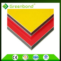 Greenbond fire resistant decorative wall panel office partition acm sheets