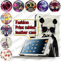 "For ipad Mini 7.9"" Stylish Printing Leather Folio Media Stand Case Cover Bag PC Tablet case"