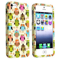 Wholesale Fancy Owls Snap-On Rubber Coated Phone Case Cover for Apple iPhone 5/5S