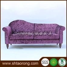 Durable wood velvet sofa