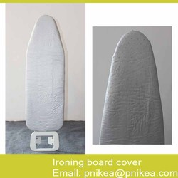 Standard Size 15 X 55 Silver Silicone Metallic Ironing Board Cover and Fiber Pad