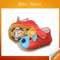 High quality soft baby boys shoes wholesale lovely dog red leather for wholesale china kids shoes Lyd-527