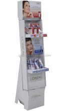 Custom advertising cardboard floor display stand for shampoo