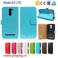 Flip wallet case book style cover for Blu Studio 6.0 LTE with credit card slots leather case for Blu Studio 6.0 LTE