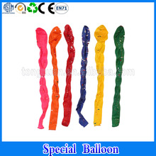 Special new style color change straw long balloons printed ballons