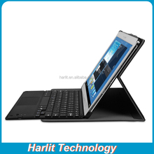 Android Tablet PC Bluetooth Keyboard With Touchpad Black Color Leather Case With Bluetooth Keyboard and Touchpad For Android