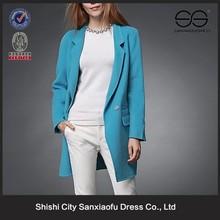 Nuevo modelo de moda de corea abrigos de lana para mujeres