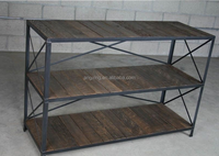Urban Rustic Shelving Unit Bookcase Mid Century Modern Style
