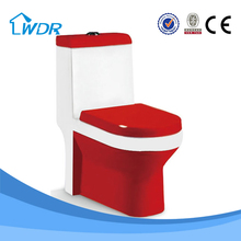 Made in china bathroom accessories red colored ceramic toilet W9070