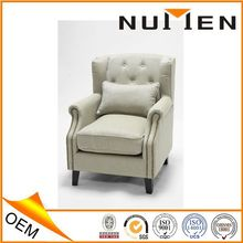 New modern design fabric leather arm chair sofa