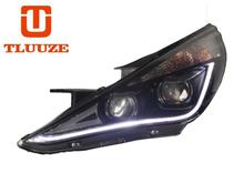 TLZ 2011-2014 HYUNDAI Sonata 8 (with daytime running) Q5 double optical lens xenon headlight assembly