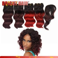 brazilian hair styles pictures 5pcs ombre hair weaves synthetic hair