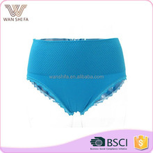 Plain dyed high elastic lace margin middle waist hot sexy modal lady panty