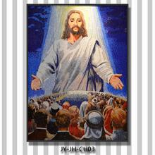 hc262 cristiana de la pared patrón de mosaicos de vidrio de corte de la pintura retrato de jesús de la pintura de la pared