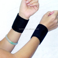 2014 High quality self-heating magnetic wrist band belt with tourmaline material