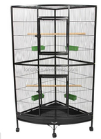 Large Corner Bird Cage on Stand
