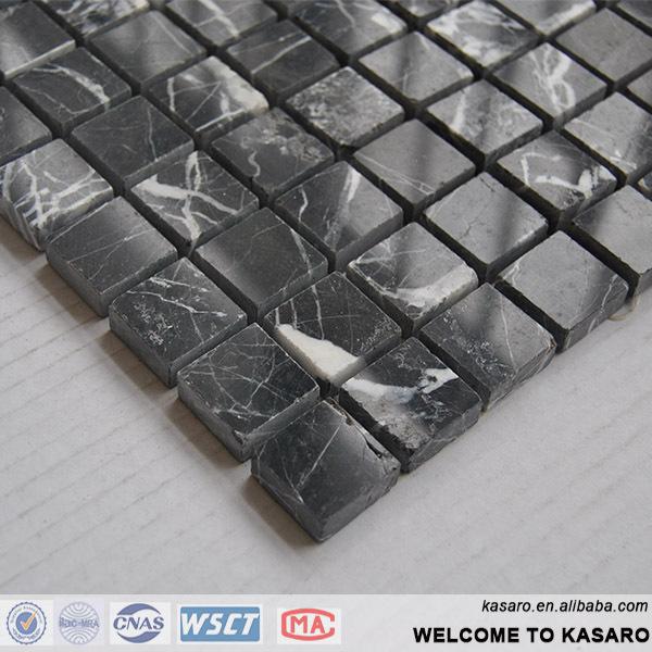 Alibaba nero marquina mosaico, mattonelle di mosaico di marmo ...