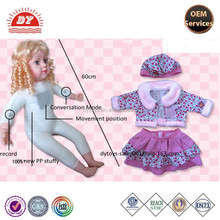 customize plastic record and conversation function doll ICTI certified factory
