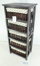 dark brown wood cabinet/modern wooden cabinet with 5 drawers/ wood storage cabinet