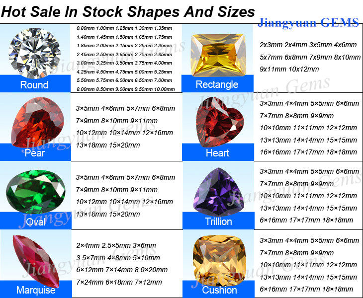 Jiangyuan Gem hot sale shape and size