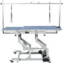 UW-GR-040 Blue double-layer boards electric lifting grooming table for both dogs and cats, height is adjustable